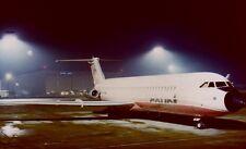 COURT LINE BAC 1-11 G-AXMI night image Luton Airport - 6 x 4 Print .