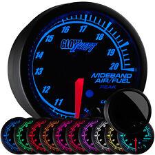 GlowShift Elite 10 Color Wideband Air Fuel Ratio AFR Lambda Gauge w Data Logging