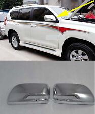 Rearview Side Mirrors Cover trim for 2010+ Toyota LAND CRUISER PRADO FJ150 ABS