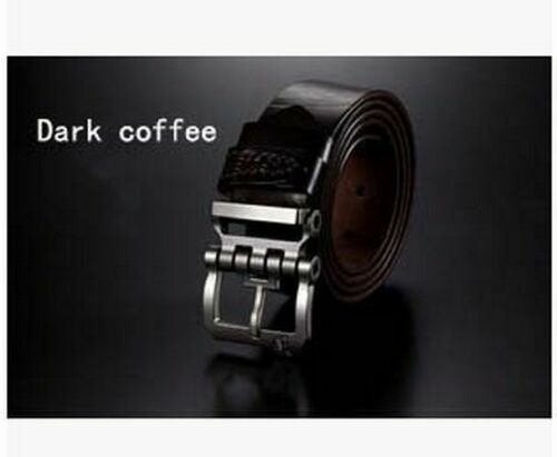 Buckle Belts Genuine Leather Pin For Men Male Fashion Accessories Casual Solid