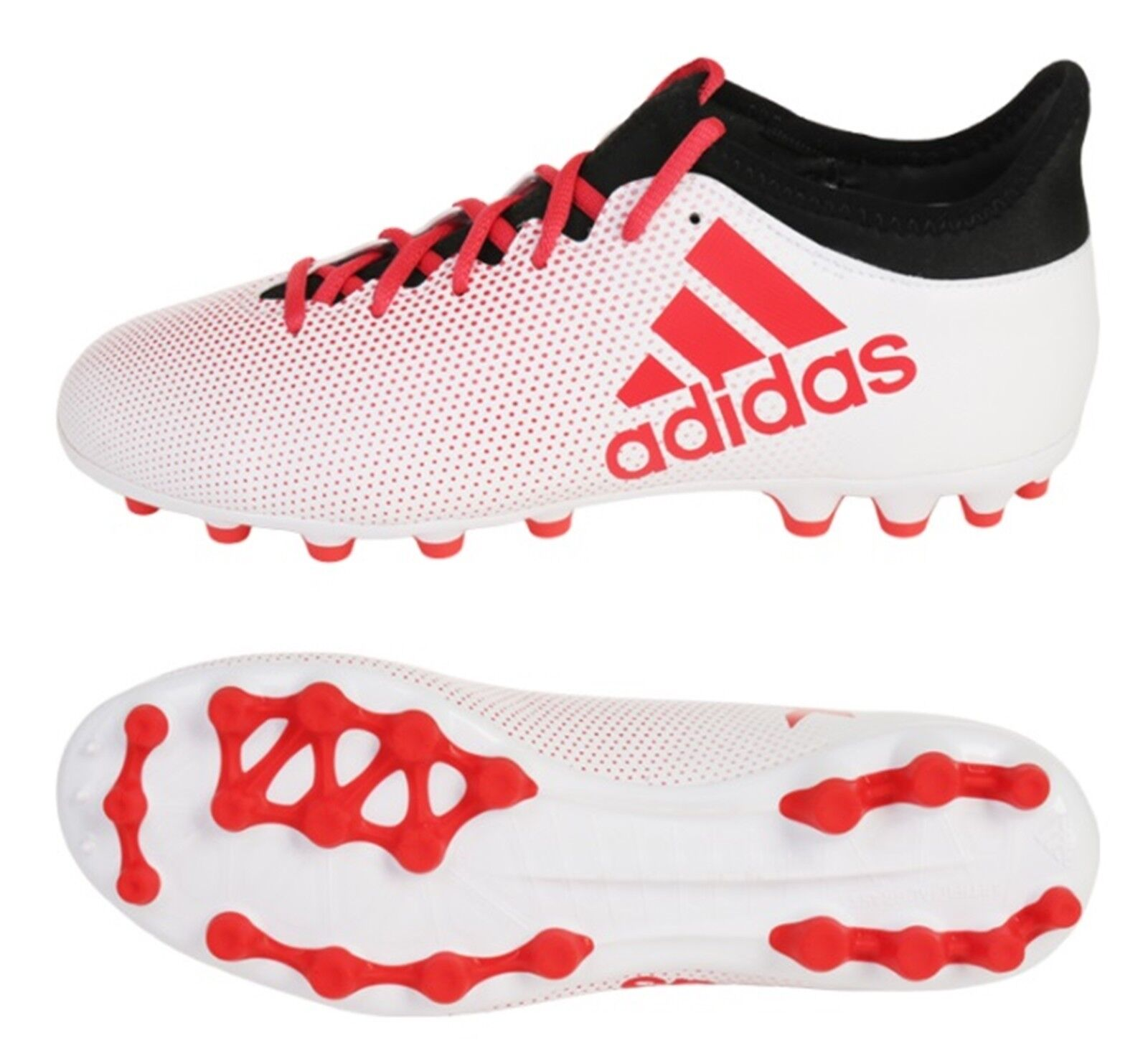 Adidas Men X 17.3 AG Tech-fit Cleats Soccer Weiß Football schuhe Spike CP9234