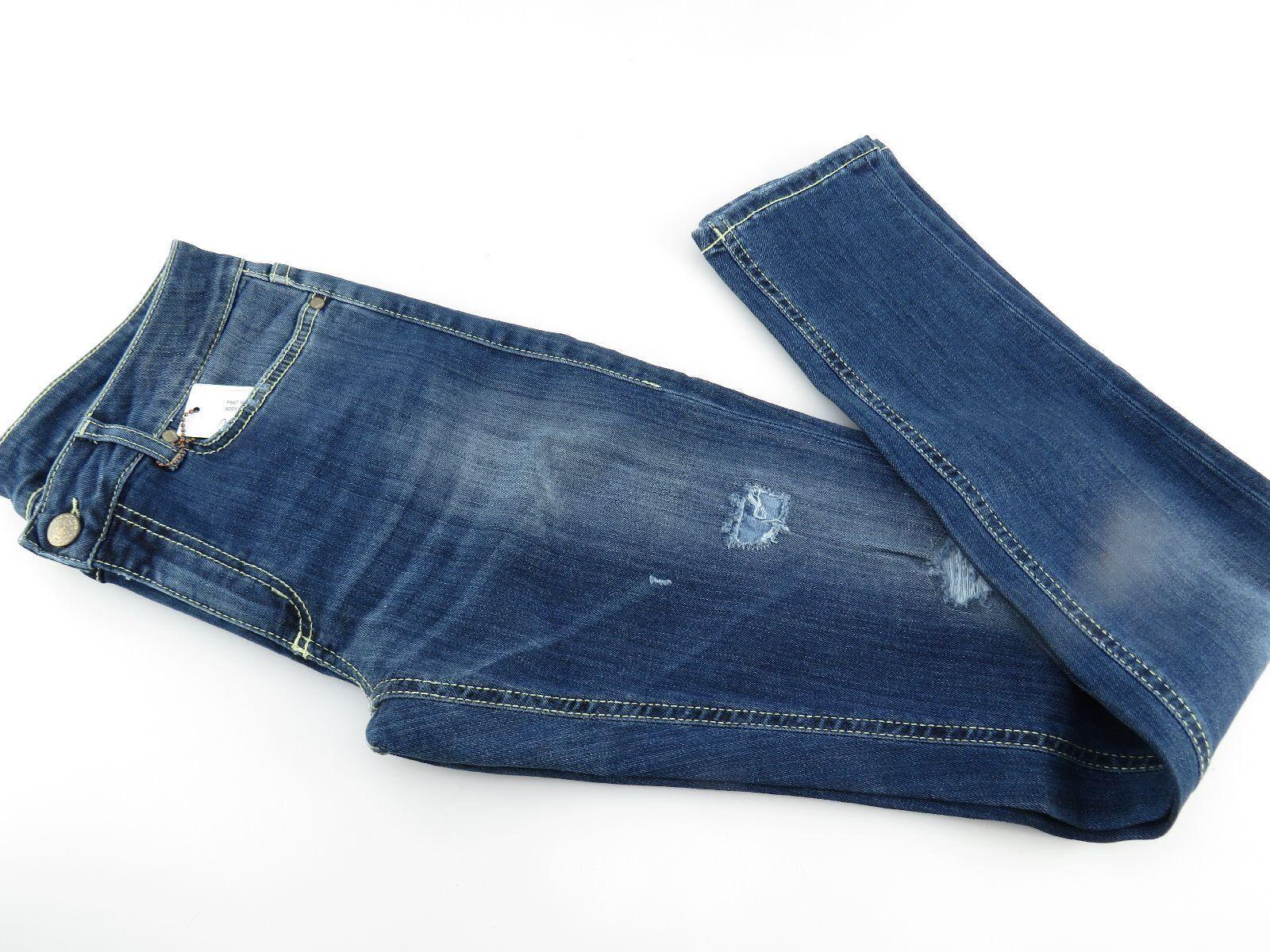 DONDUP Damen Jeans Used look Strech Denim blau P907 NEU ehemaliger  249 - EUR