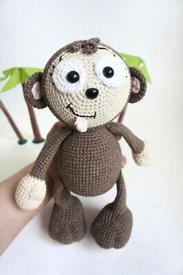 Amazon.com: crochet monkey, baby toy monkey, knitted monkey ... | 400x266
