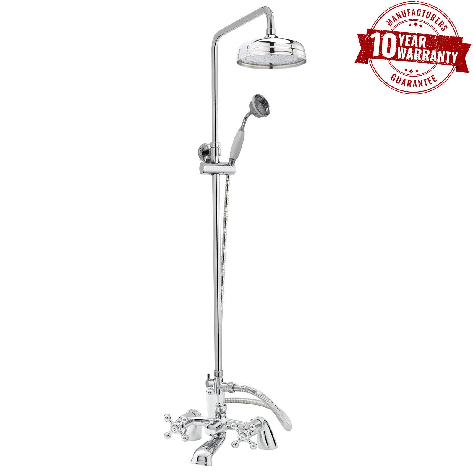 Traditionnel bain douche mitigeur avec rond rigide montage tête de douche & combiné