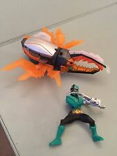 Power Rangers super samurai CRYSTAL Orange beetle zord & green ranger figure