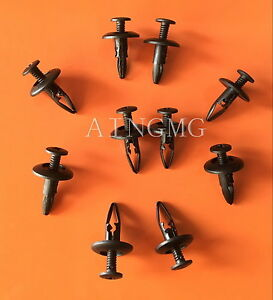 100x-Push-Type-Retainer-Bumper-Clip-Nylon-A14991-For-GM-10139822-Ford-N808147S