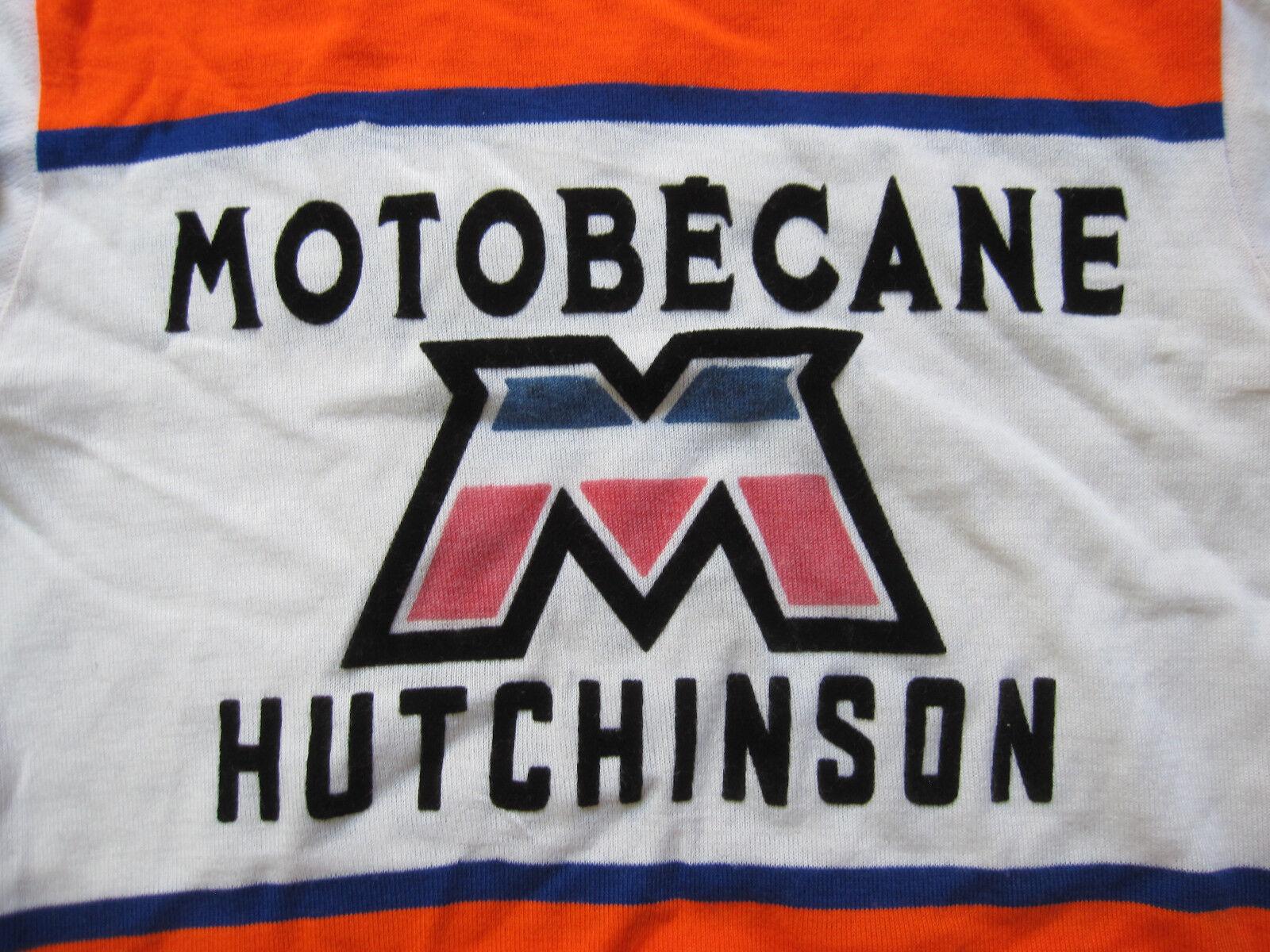 Maillot Cycliste Motobecane Acrylique Hutchinson vintage Cycles Acrylique Motobecane 70'S jersey - 3 d6a05c