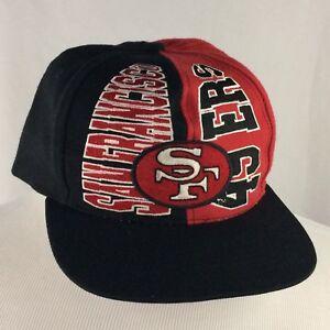 58c48884 Details about Vintage San Francisco 49ers Snapback Hat Cap NFL Football  Drew Pearson 90s