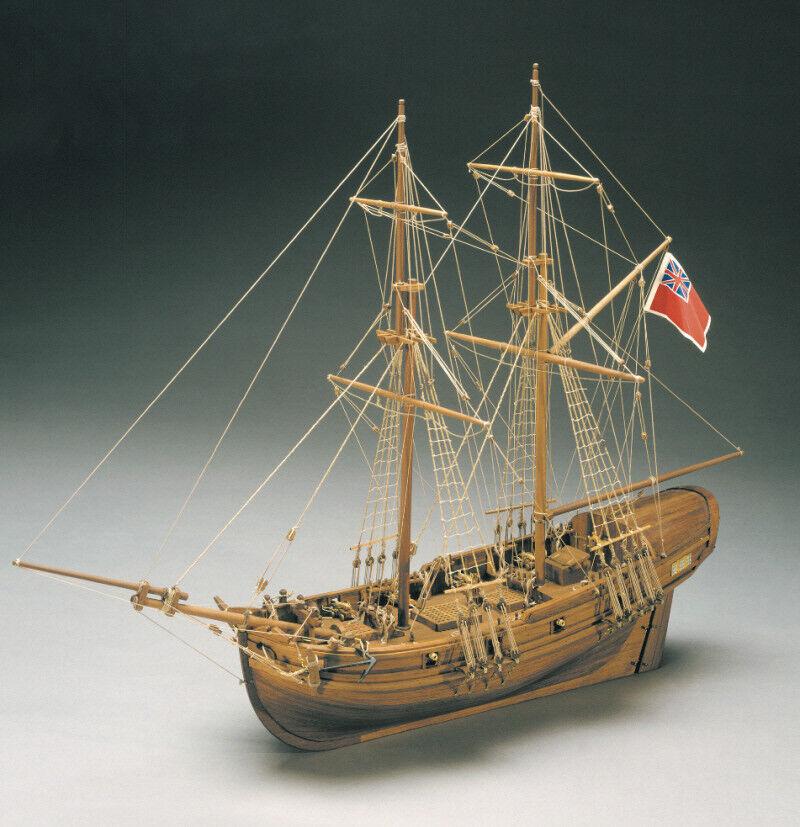 Mantua HMS Shine English Cutter 1712 1 45 Scale Period Ship Kit HPS 777