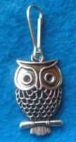 Pendant Tibetan Silver Owl Zipper Pull Charm Bird Charm