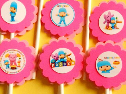 30 POCOYO Cupcake Toppers Birthday Party Favors Baby Shower Decoration