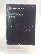 Brand New Original Motorola Razor i French Phone Manual Guide