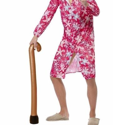 Krachtig Fun Inflatable Walking Stick Costume Prop Cane Grumpy Old Man Grandma Grandpa Noch Te Hard Noch Te Zacht