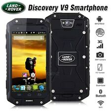 "Unlocked LAND ROVER Discovery V9 Black IP68 4.5"" 3G Rugged Smartphone Cell Phone"