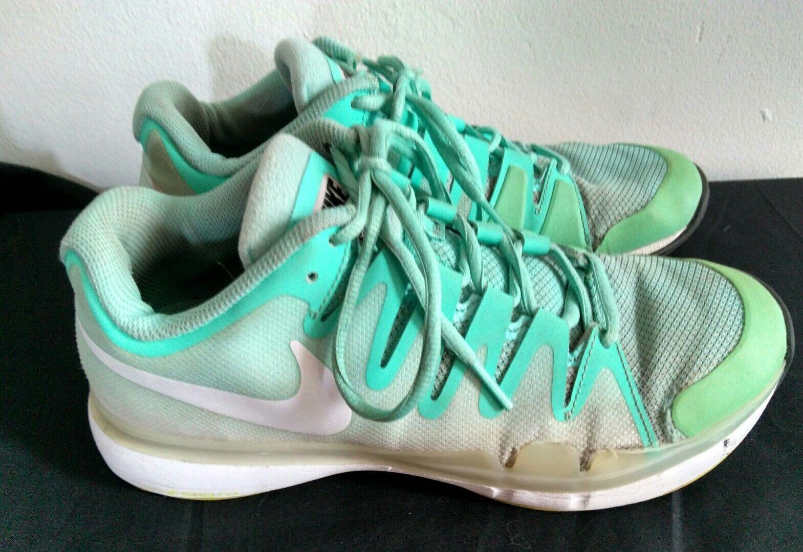 Women's Sz 8.5 NIKE Vapor 9.5 Tour Mint White Athletic Sneakers Shoes