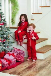 7a08ac908 Mud Pie Unisex Baby Red Christmas 2 Pc Flannel Pajamas Red w  White ...