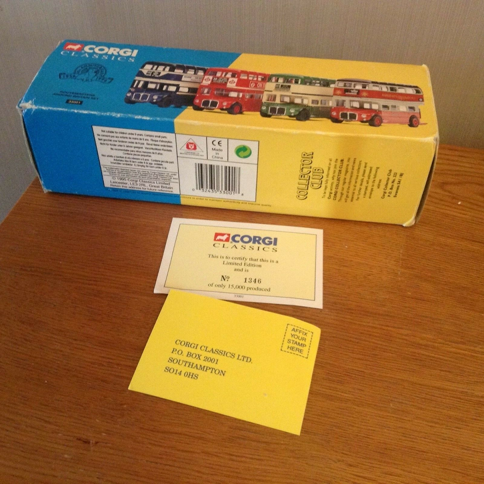 Corgi classics vintage (33001) Route Masters Around Britain. Set of 4.BNIB