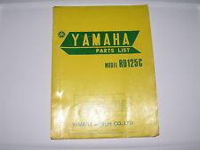 Yamaha    RD125 C   parts list  book manual             (#15)