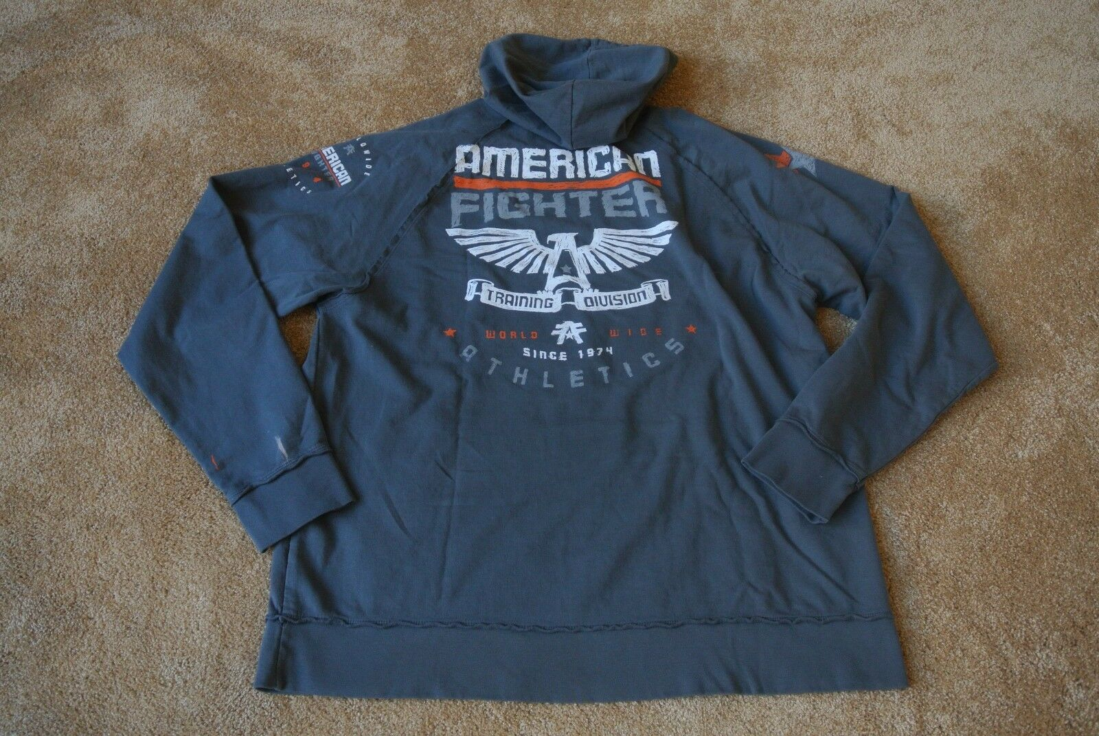 AFFLICTION AMERICAN FIGHTER ATHLETICS HOODIE SWEATSHIRT 3XL NWOT Grey-USA