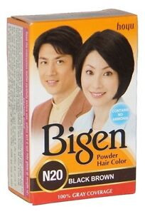 Bigen-Black-Brown-Hair-Color-Powder-6gm-Express-Free-Shipping