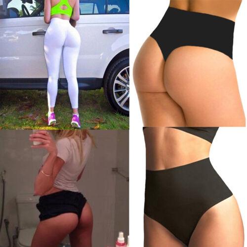 Womens Waist Tummy Control Thong Body Shaper Panty Butt Lifter Underwear AU