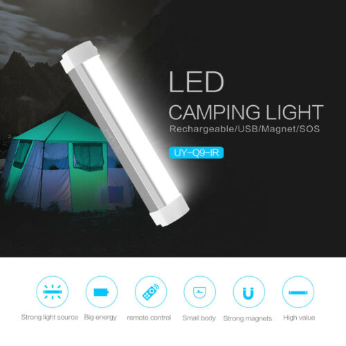 Q9IR SOS Emergency Light With Remote Control Magnetic Camping Lamp Outdoor Light