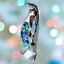 Crystocraft-Penguin-Crystal-Ornament-With-Swarovski-Elements-Gift-Boxed-Blue thumbnail 2