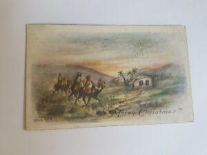Greeting-Postcard-Vintage-Christmas-Camels