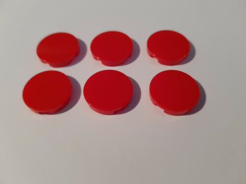 LEGO® 6 x 14769 Fliese rund 2 x 2 rot 6066342 City Creator #AH89