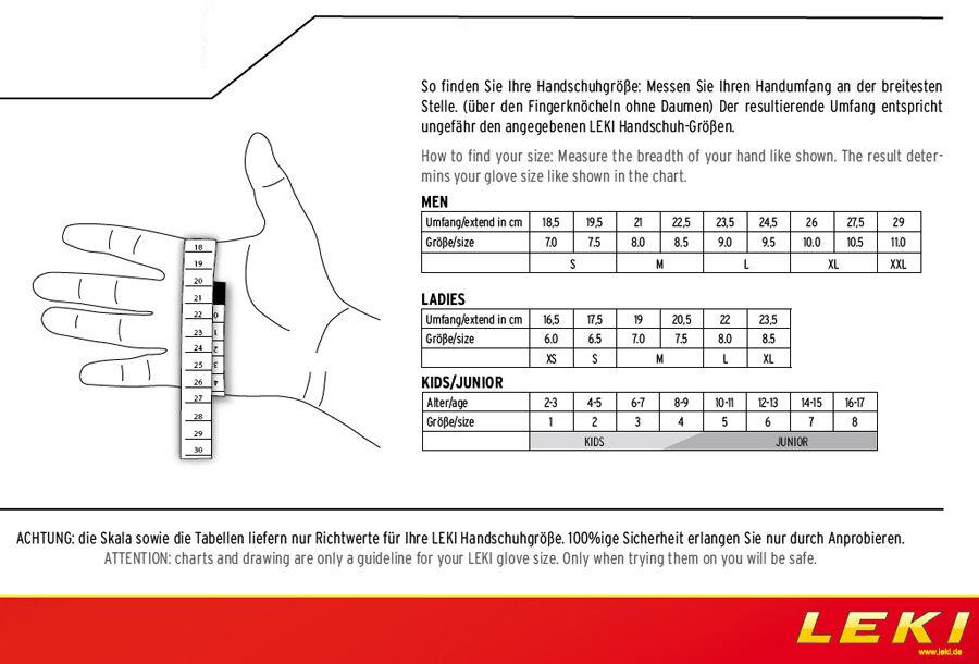 LEKI Nordic Lite Shark long - Nordic Walking Walking Nordic Handschuhe - Loop integriert b51cfb