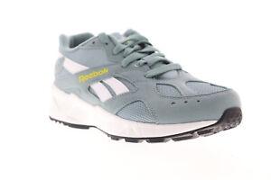 Reebok-Aztrek-DV4082-Mens-Green-Suede-Low-Top-Lifestyle-Sneakers-Shoes-5-5