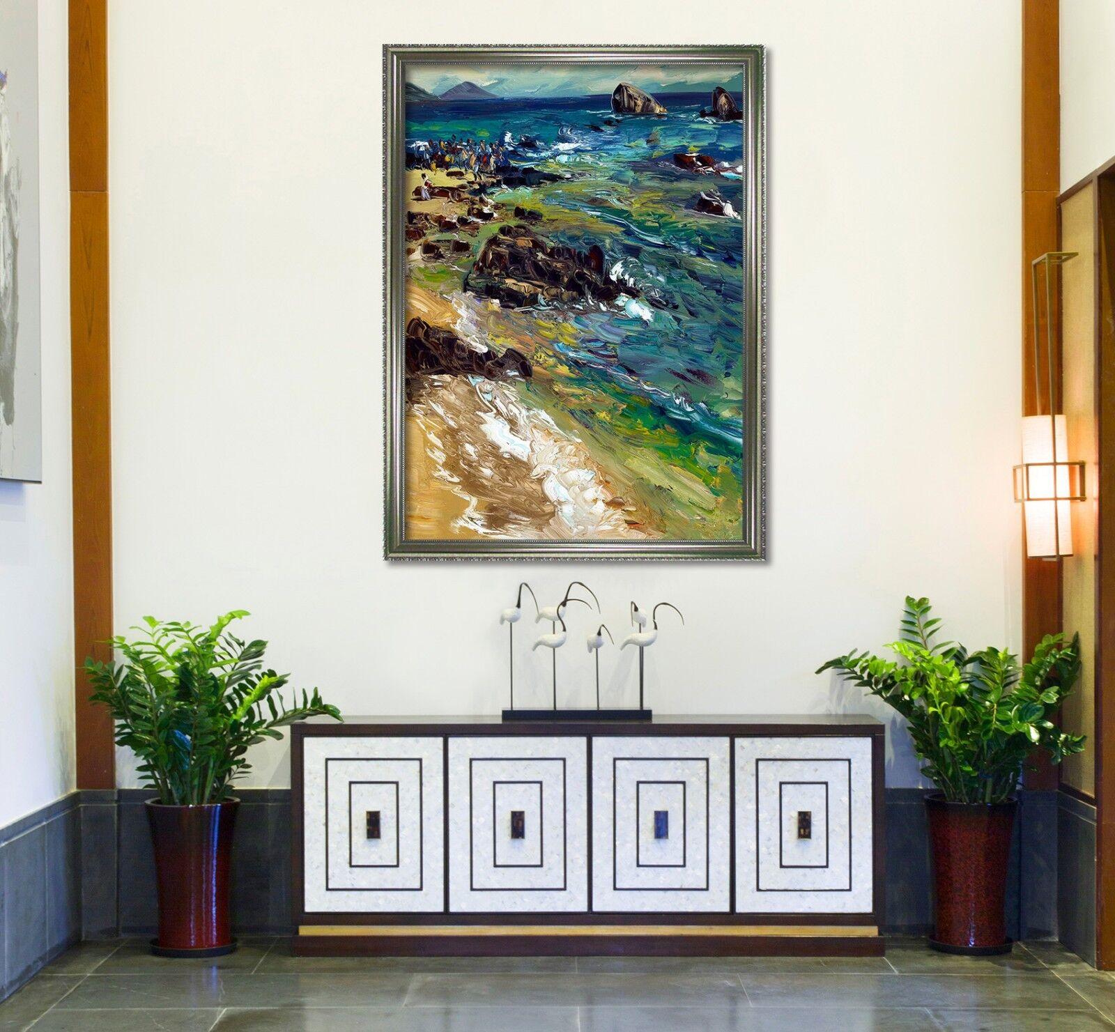 3D Oil Painting River 6 Framed Poster Home Decor Drucken Painting Kunst AJ AU