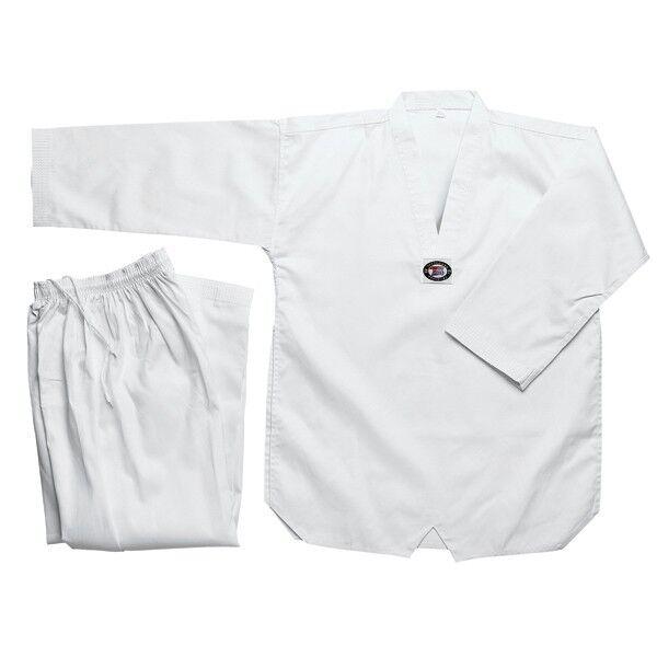 New Taekwondo Uniform TKD Student Dobok Set White Taekwond Gi Uniform All sizes