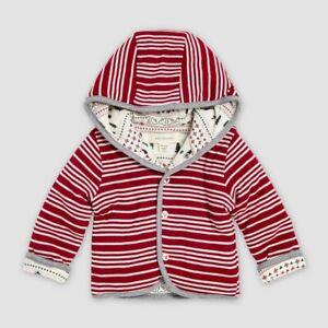 Childrens Burt's Bees Baby Organic Cotton Sleigh Ride Fair Isle 3-6M Red 3
