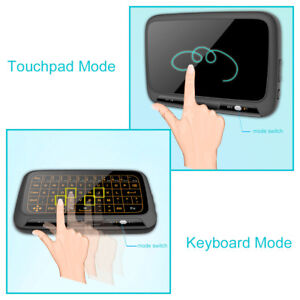 991702f288d H18+ Mini Wireless 2.4G Keyboard Touchpad Mouse with Backlight for ...