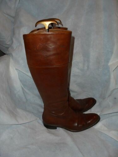 Size Brown Women's 5 Lace Uk 5eu N Knee d Boots c 3 Up 36 Leather High FtwvqE