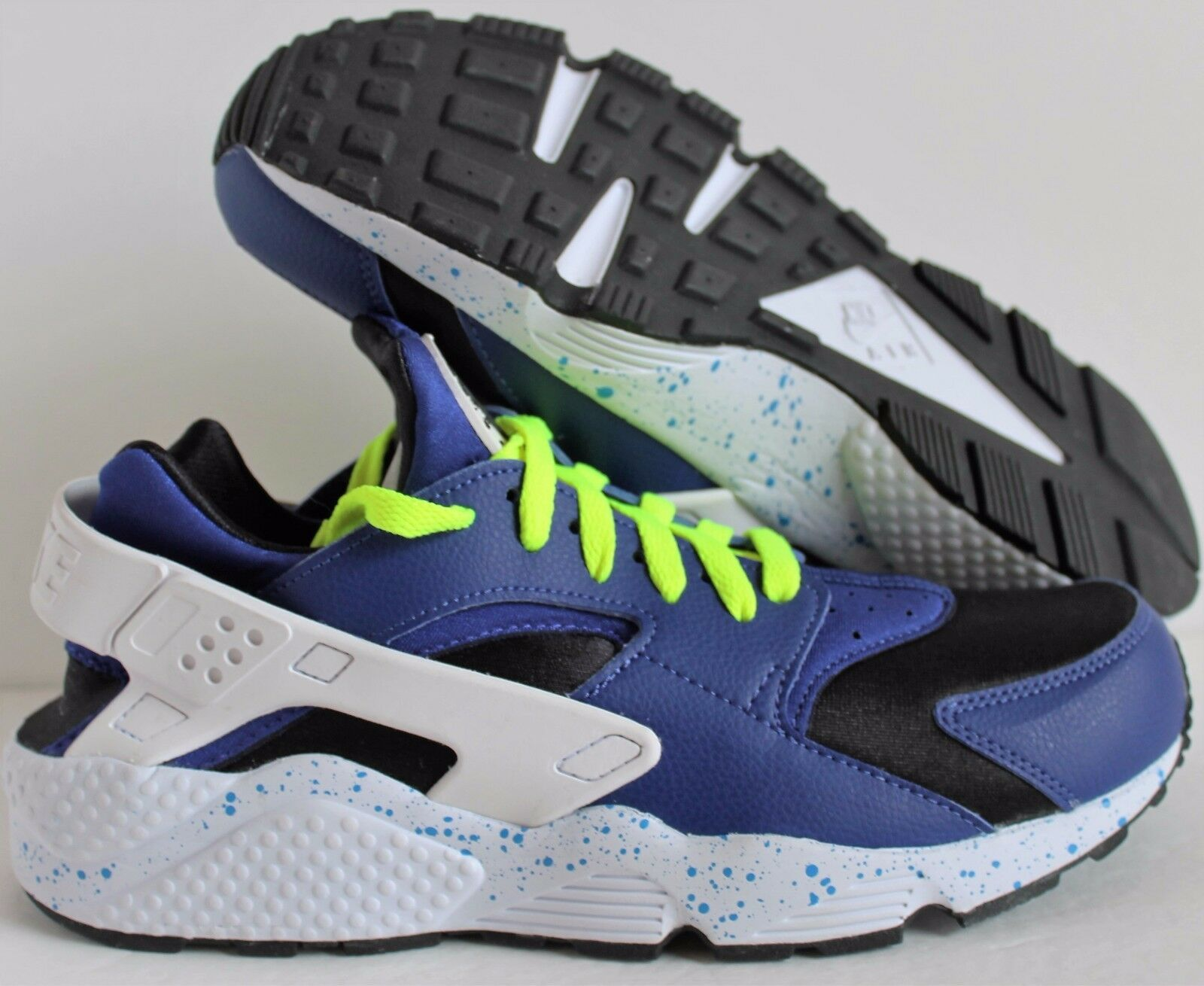Nike Men's Air Huarache Premium ID bluee-Black-Volt-White SZ 9 [777330-994]
