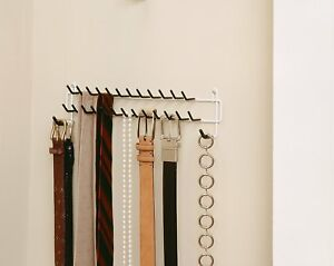 Image Is Loading Tie Scarf Amp Belt Hanger Rack Necktie Holder