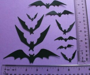20 BATS paper die cut embellishment *FreeShipPromo* card making scrapbook