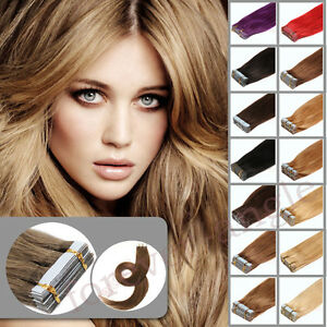 Premium-Seamless-Tape-In-Remy-Human-Hair-Extensions-Weft-Virgin-Brazilian30g120g