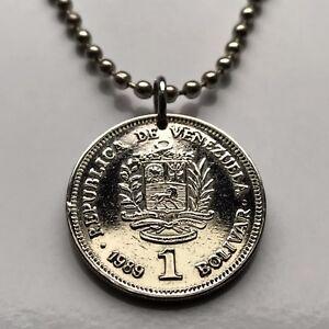 Fashion Jewelry Necklaces & Pendants Discreet Venezuela 1 Bolivar Coin Pendant Venezuelan Escudo Bolivariano Caracas N001101 Elegant And Graceful