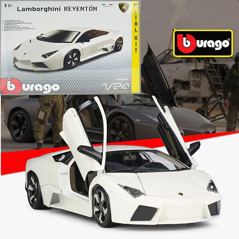 Bburago 1 24 Lamborghini Reventon Metal Assembly KIT Model Car White