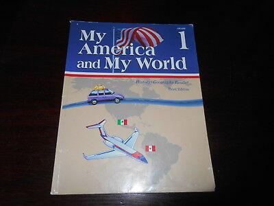 My America and My World Abeka book History 1st grade student textbook homeschool