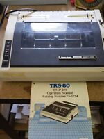 RADIO SHACK - TANDY TRS-80 DMP200 DOT MATRIX PRINTER w/Manual