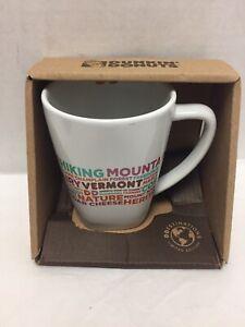 Dunkin Vermont Coffee Mug Words New Hiking Mountains Dairy Montpelier