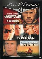 HEATH LEDGER MULTI-FEATURE New 3 DVD Knight's Tale Lords of Dogtown The Patriot