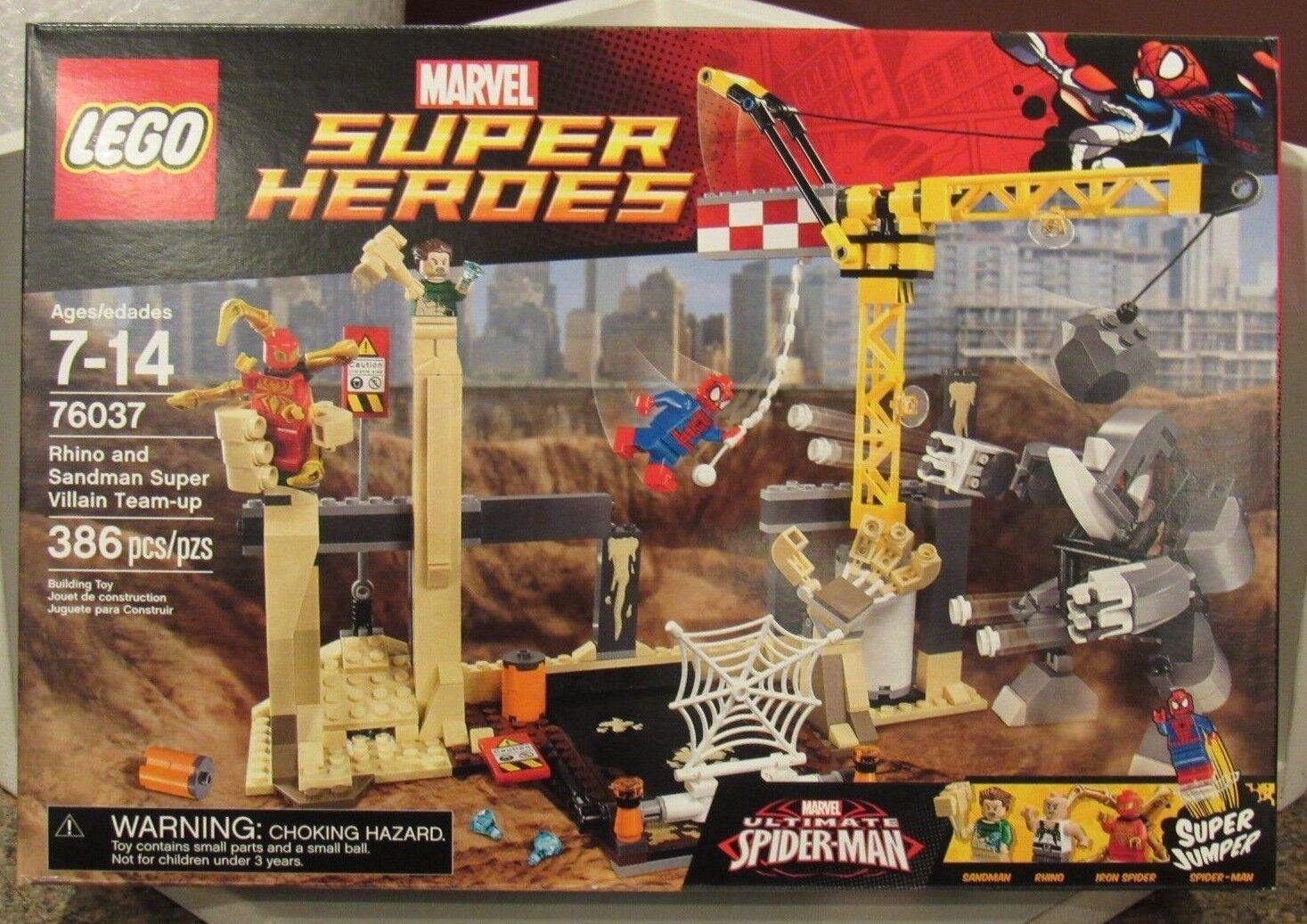 Lego 76037 Marvel Rhino et Sandman Villain Team-Up SPIDER-MAN NEUF boîte scellée