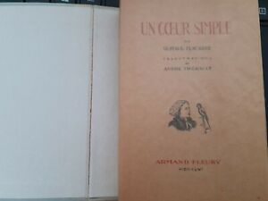Uno le Coeur Mangé Semplice Gustave Flaubert 1946 A.Fleury 2 Acqueforti+