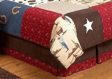 Sweet Jojo Designs Wild West Western Cow Boy Kids Queen Size Bedding Bed Skirt