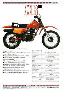 1983-HONDA-XR80-RD-Mini-Bike-1-Page-Motorcycle-Sales-Brochure-NCS